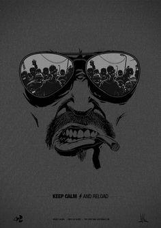 """Keep Calm and Reload"" Zomb Series by Jean Baptiste Casasola, via Behance Dark Wallpaper, Cartoon Wallpaper, Iphone Wallpaper, Galaxy Wallpaper, Art Sketches, Art Drawings, Dessin Old School, Royal Enfield Wallpapers, D Mark"