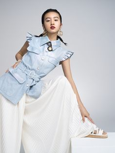 Kōki, とシャネルの「ルージュ ココ フラッシュ」最終回 Takuya Kimura, Pretty Much, Asian Woman, Ruffle Blouse, Chanel, Singer, Actresses, Shirt Dress, Sexy