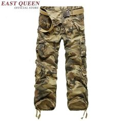 Cargo clothing men cargo pants military style male camouflage pants fashion KK1393 H #Affiliate
