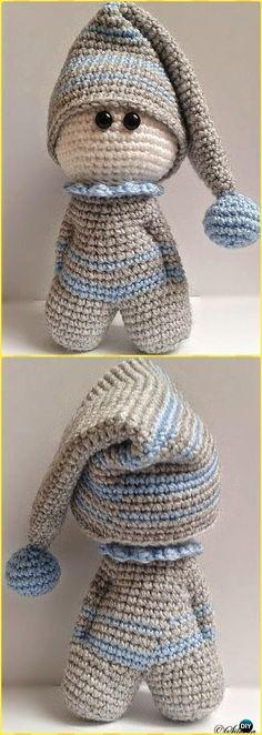 Crochet Mr Sleepy Free Pattern - Crochet Doll Toys Free Patterns