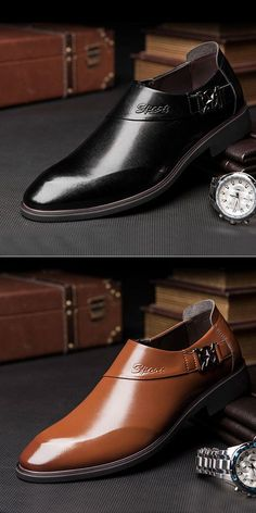Men Microfiber Leather Pointed Toe Slip On Formal Dress Shoes is designed for the formal occasion, more high-quality men formal shoes are on sale. Simple Shoes, Casual Shoes, Shoes Style, Hot Shoes, Men S Shoes, Men Dress, Dress Shoes, Dress Clothes, Formal Shoes For Men