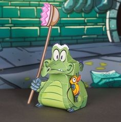 Swampy Alligator Where's My Water Free 3D Paper Craft Model Printables Here!!