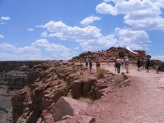 People walking the trail at the Grand Canyon West Rim on the Hualapai Indian Reservation