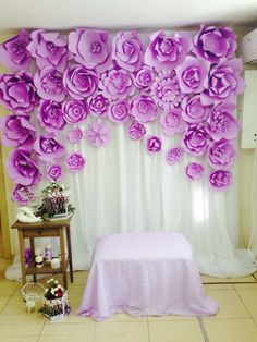 Paper Flowers #Backdrop