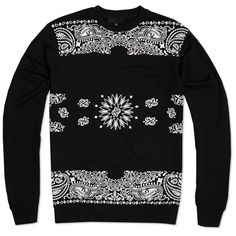 Black Scale Couvre Fleece Crew Neck (Black)