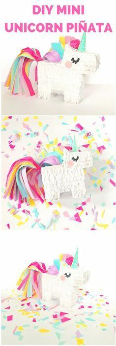 8.-La piñata de unicornio, ya sea que logres encontrar una en la tiendita más cercana o que te lances a hacerla con cajas que tengas a la mano ¿te animas?
