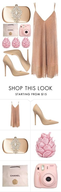 """◇PINK AND NUDE◇"" by tamsy13 ❤ liked on Polyvore featuring Sans Souci, Jimmy Choo, Badgley Mischka, Zara Home, Chanel, Fujifilm, Pink and nude"
