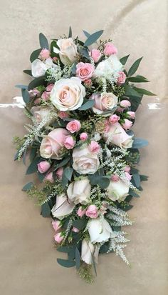 Flowers & Home is a independent florist in Castle Bromwich, near Birmingham specialising in exquisite floral arrangements to suit any occasion. Funeral Floral Arrangements, Church Flower Arrangements, Church Flowers, Beautiful Flower Arrangements, Cascading Wedding Bouquets, Bridal Flowers, Flower Bouquet Wedding, Funeral Bouquet, Funeral Flowers