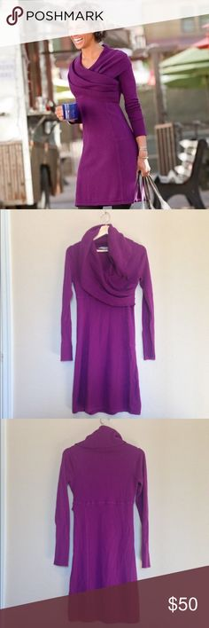 🎉HP🎉✨Athleta Sochi Sweater Dress✨ Versatile cowl neck sweater dress. Gently used, light pilling. Athleta Dresses