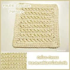 A nicely textured dishcloth pattern that is easy to adjust in size allowing you to easily crochet a coaster, hotpad or placemat to match.