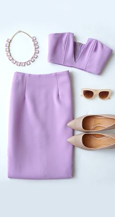 Fame-Sake Lavender Two-Piece Dress