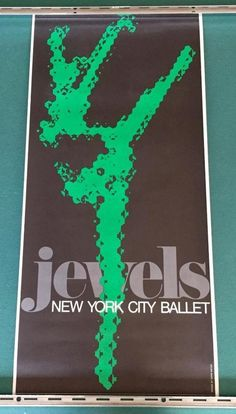Donn Matus New York City Ballet Jewels Poster 1967 #Abstract