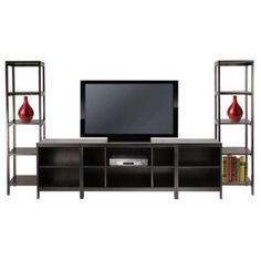 Shop Winsome Wood Hailey Entertainment Center at Lowe's Canada. Find our selection of tv stands at the lowest price guaranteed with price match. Living Room Sets, Living Room Furniture, Modern Furniture, Home Furniture, Office Furniture, Furniture Design, Home Office, Armoire, Tv Set Design
