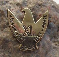 1948 Vsesokolsky Slet v Praze Prague Sokol Mass Gymnastics Falcon Badge Rare Names, European Countries, My Heritage, Brand It, Czech Republic, Prague, Gymnastics, Badge, History