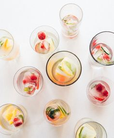These Fruit-Infused Ice Cubes Are a Complete Hydration Game-Changer via Brit + Co