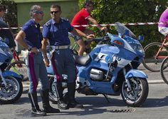 Viareggio, State police motorcyclists
