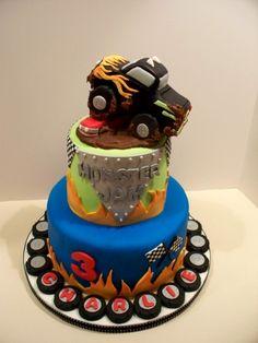 Monster Jam Birthday Cake By bandcbakes on CakeCentral.com