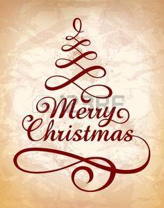 Kalligrafische Kerst letters Vector illustratie Stockfoto