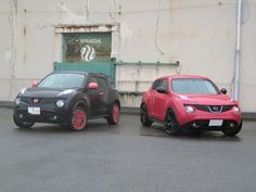Nissan Jukes with negative image.