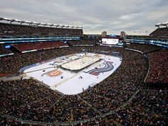 A general view as the Montreal Canadiens play the Boston Bruins during the 2016 Bridgestone NHL Winter Classic at Gillette Stadium on January in Foxboro, Massachusetts. Nhl Winter Classic, Gillette Stadium, Nhl Games, Montreal Canadiens, Sport Football, Boston Bruins, Snowboarding, Hockey, Gallery