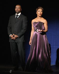 Angela Bassett and her husband Courtney Vance