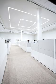 Veiled ambient accent stands alone or works in the context of a graphic pattern with recessed Stream Linear Lighting, Accent Lighting, Lighting Design, Linear System, Open Office, Extruded Aluminum, Simple Shapes, Downlights, Dots