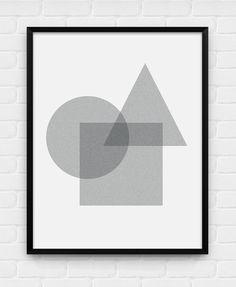 Geometrische Formen - druckbare Poster - digitale Kunst, herunterladen Sie und Drucken Sie JPG
