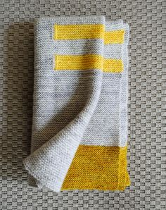 Grey and yellow blanket - I have some grey yarn I've been trying to figure out what to do with...I think this is just what it needs