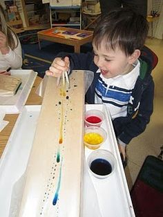 Playfully Learning: Learning Through Water Play-One Drop at a Time Preschool Classroom, Preschool Art, Classroom Activities, Preschool Activities, Kindergarten, Water Theme Preschool, Science Centers, Preschool Science Activities, Toddler Classroom