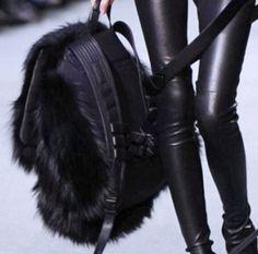 Street Style, Girl in Black, Futuristic Look