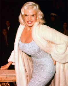 Jayne Mansfield in WHITE MINK Fur