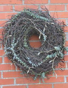stoer sober landelijke krans wreath kranz corona Blomkje en Wenje