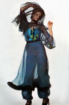 Donna Mitchell by Chris von Wangenheim Vogue Italia 1970