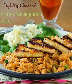 Lightly Charred Zesty Lime Margarita Tofu (+a tofu tutorial!) - vegan and gluten free