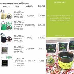 A todos nuestros clientes les contamos que por el día de hoy nuestra tienda online se encuentra en actualización! Mientras tanto pueden realizar su compra escribiéndonos a contacto@matchachile.com enviándonos tu nombre completo / rut / productos a comprar / teléfono / y dirección de envío  ------ Todos los detalles y precios en La foto! #MatchaChile