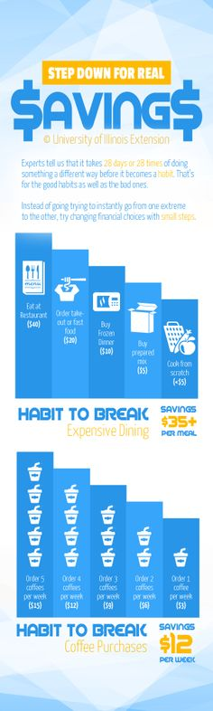Increase your savings one baby step at a time! #universityofillinoisextension #finances #savings