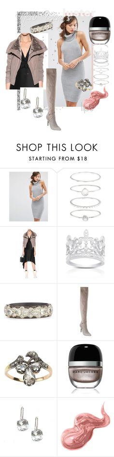 """""""New Year's Luster"""" by lisastarflower ❤ liked on Polyvore featuring Parallel Lines, Accessorize, Finesque, Armenta, Charles by Charles David, Marc Jacobs, Bobbi Brown Cosmetics, grey, newyear and luster"""
