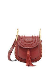 CHLOÉ Hudson Mini Leather Shoulder Bag, Sienna. #chloé #bags #shoulder bags #lining #suede #