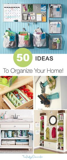 50 ideas para organizar su casa - 50 ideas to organize you home Organisation Hacks, Household Organization, Storage Organization, Storage Ideas, Cabinet Storage, Organize Your Life, Organizing Your Home, Organising, Organizing Ideas