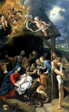 Philippe de Champaigne Adoration of the Shepherds, 1629 Baroque Painting, Baroque Art, Monastery Icons, Philippe De Champaigne, Jesus E Maria, Christmas Nativity Scene, Nativity Scenes, Christmas Time, Jesus Christus