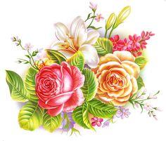 手绘 玫瑰 花 - Google'da Ara Art Floral, Decoupage, Flower Tat, Apple Prints, Multi Colored Flowers, Bunch Of Flowers, Love Rose, Print Store, Rose Design
