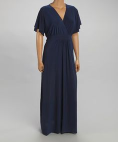 Look at this #zulilyfind! CANARI Navy Surplice Maxi Dress - Plus by CANARI #zulilyfinds