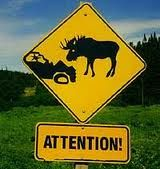 Moose crossing! You need this sign Megan
