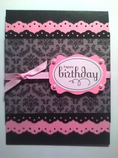 Handmade Birthday Greeting Card by sistochristine - I like the layered punch & colors
