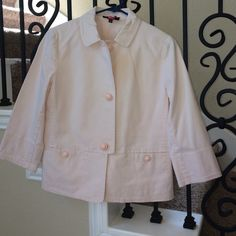 Cute lightweight jacket 3/4 sleeves, light pink, excellent condition Talbots Jackets & Coats