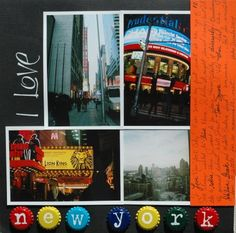 scrapbook pages of NYC - Google Search