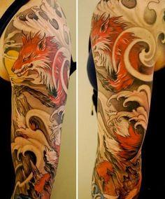 Fox tattoo sleeve