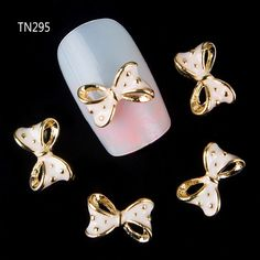 10pc Golden Alloy Glitter 3d Nail Bows Art Decoration with Rhinestones ,Alloy Nails Charms,Jewelry on Nails Salon Supplies TN295 #clothing,#shoes,#jewelry,#women,#men,#hats,#watches,#belts,#fashion,#style