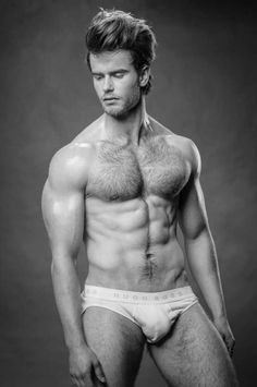 #MathieuElfferich Sexy on Black and White by Paul Van Der Linde #hairy