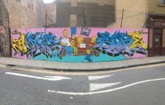 Simpsons Graffiti Art